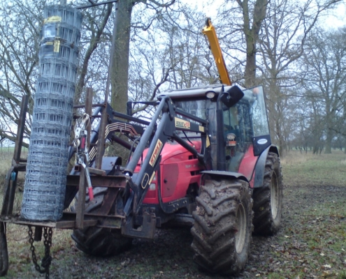 Deer Fencing With a Tractor
