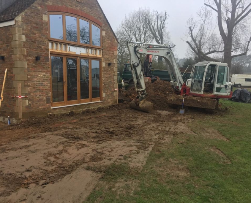 Starting drainage work for a property