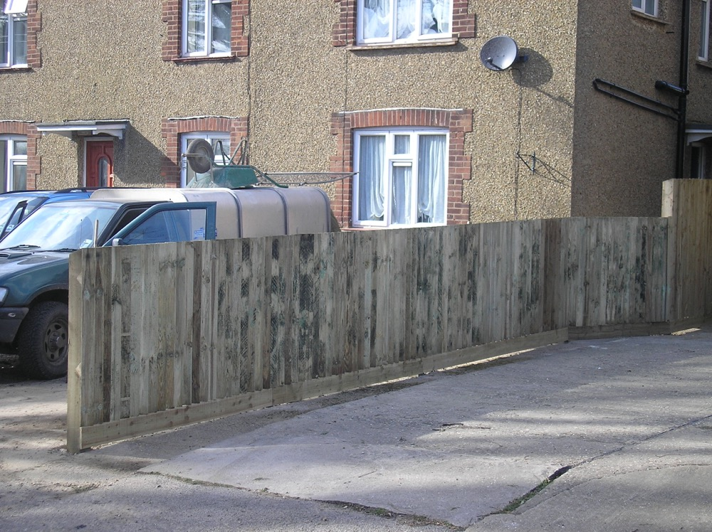 Driveway fencing example