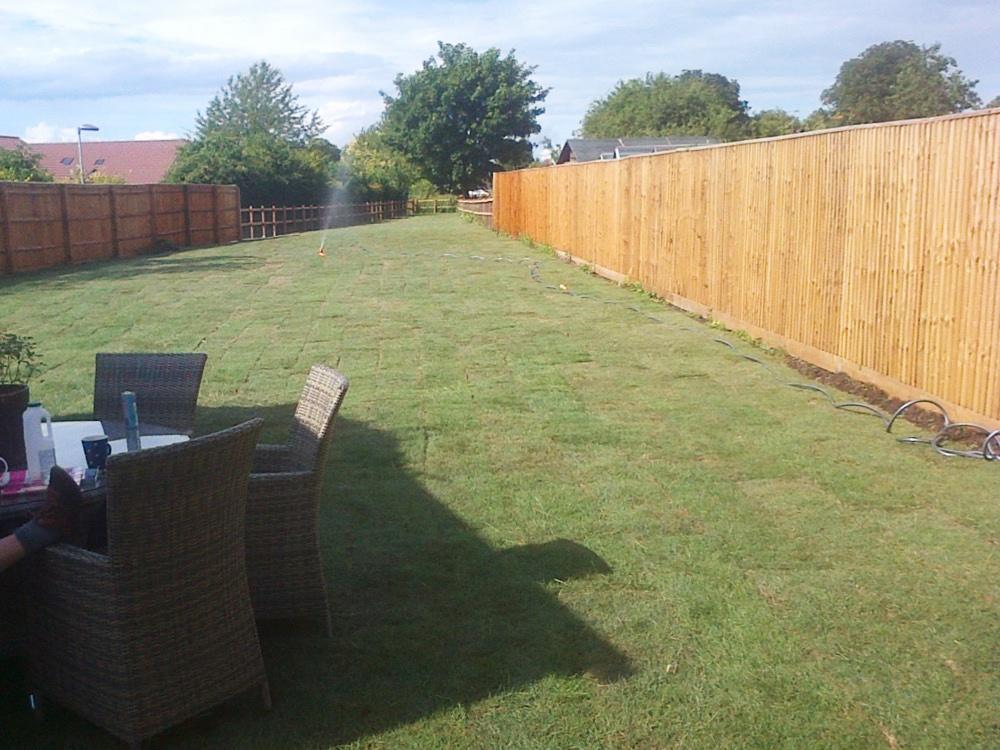 Garden Fencing & Turfing