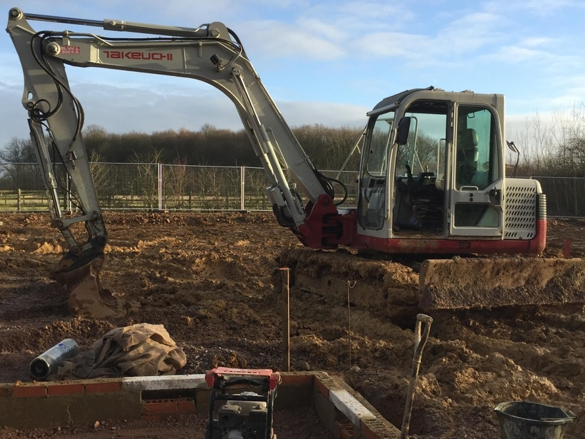 360 digger ground works - soil clearance