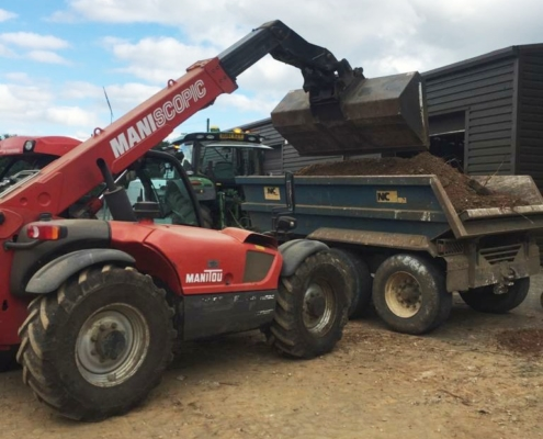 Manitou and Dump Trailer - Plant Hire