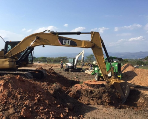 Site clearance work in Bedfordshire